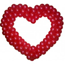 Сердце из шаров (1 цвет)