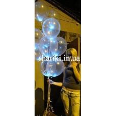 """Светящиеся шарики 12"""" с гелием, прозрачные"""