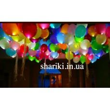 """Светящиеся шарики 10"""" с гелием, разноцветные"""